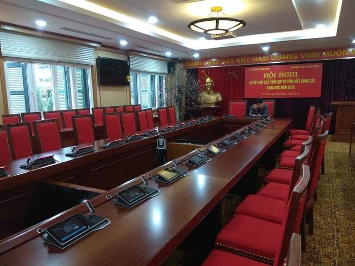 Hệ thống phòng họp sử dụng toàn bộ hàng nhập khẩu chính hãng