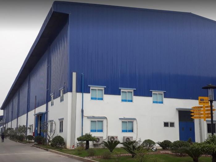 Nhà xưởng có quy mô rộng của công ty TCE Vina Denim Nam Định