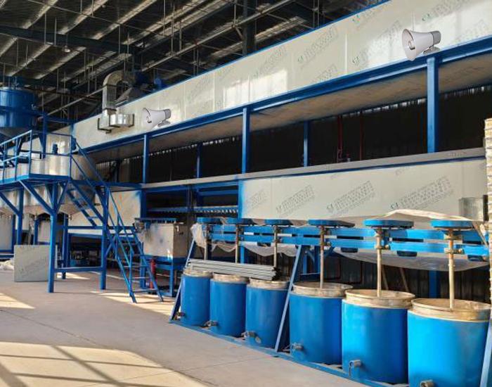 Loa nén phóng thanh được bố trí ở các phân xưởng khác nhau trong nhà xưởng