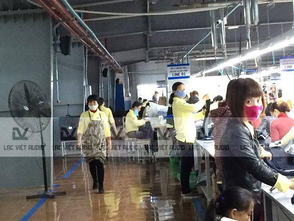 Âm thanh cho xưởng May TCE Vina Denim - KCN Hòa Xá Nam Định