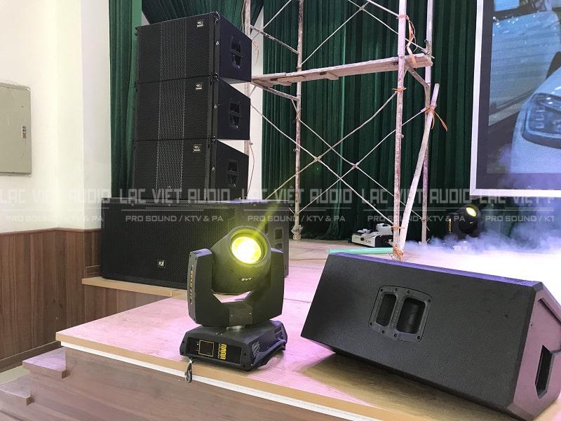 Cấu hình âm thanh và ánh sáng được chuyên gia Lạc Việt Audio tư vấn và triển khai