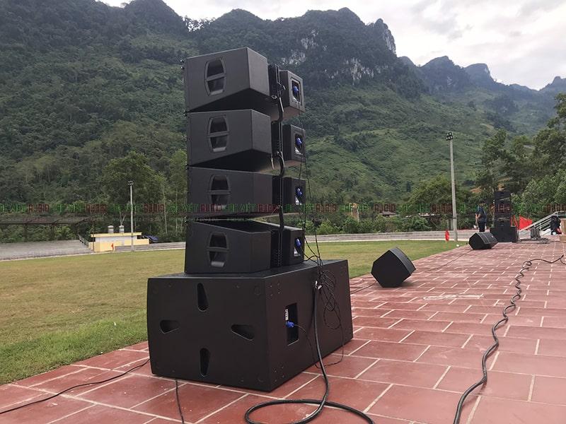 Hệ thống âm thanh sử dụng tốt ở khoảng không gian rộng ngoài trời