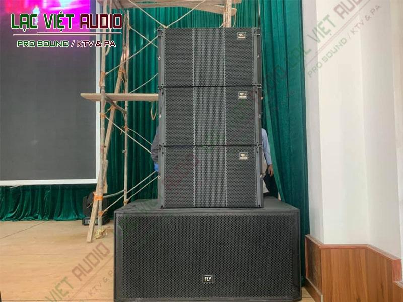 Các thiết bị loa array và loa sub trong dự án âm thanh