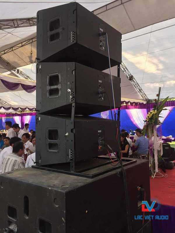 Dàn loa Array của bộ dàn âm thanh đám cưới có thể đặt linh động