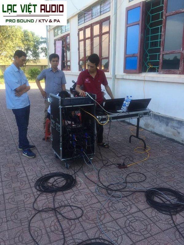 Hệ thống âm thanh cho TTVH thể thao huyện Diễn Châu - Nghệ An