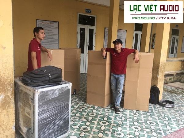 Các thiết bị được vận chuyển đến đều được đóng gói, bảo quản cẩn thận