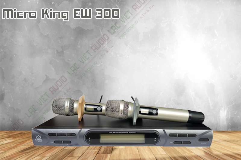 Về thiết kế bên ngoài của sản phẩm micro không dây KING EW 300.
