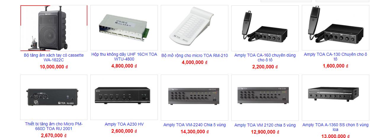 giá amply toa
