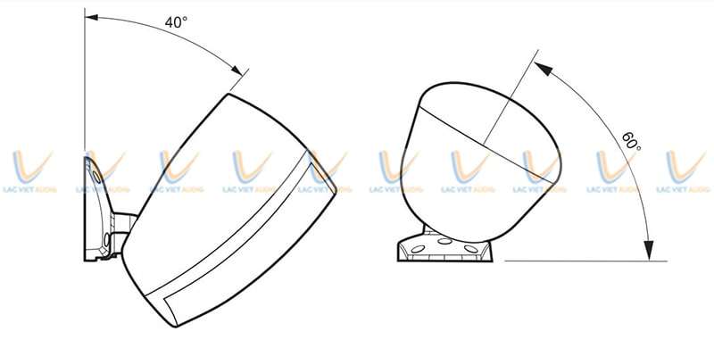 Góc phân tán âm thanh của Loa treo tường Paso rộng