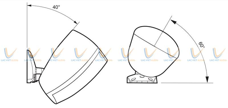 Góc phân tán của loa Paso C94/60-T rộng