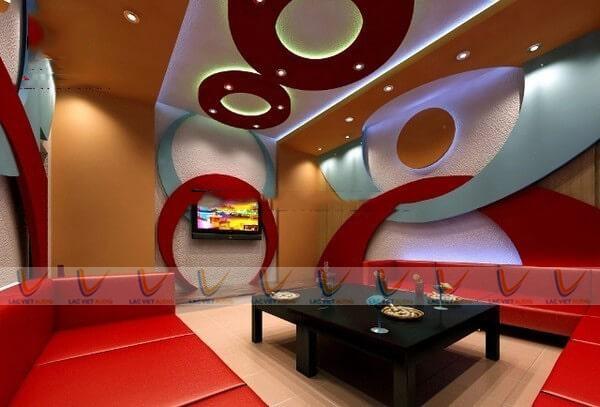 Hệ thông ánh sáng, nội thất cho phòng karaoke gia đình