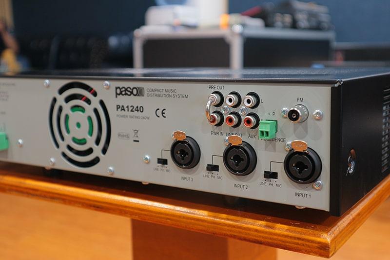 Hệ thống các đầu vào của PASO PA1240