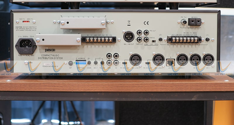 Hệ thống kết nối của PASO PA-6120