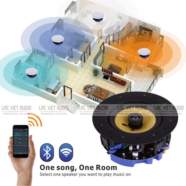 Loa âm trần không dây wifi ứng dụng rộng rãi và phổ biến cho nhiều hệ thống âm thanh thông báo