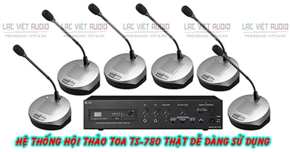 Hệ thống âm thanh phòng họp Toa TS-780 tiện dụng và dễ dàng lắp đặt