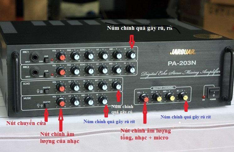 Hình ảnh chi tiết về cách hiệu chỉnh amply