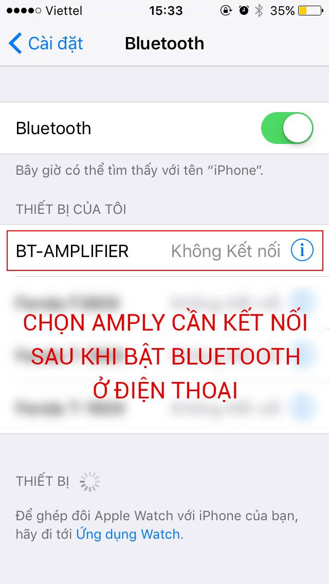 kết nối điện thoại với amply bằng bluetooth để nghe nhạc Bật bluetooth trên điện thoại