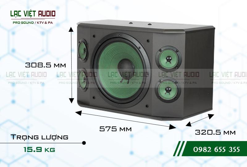 Loa Paramax K2000 NEW kích thước