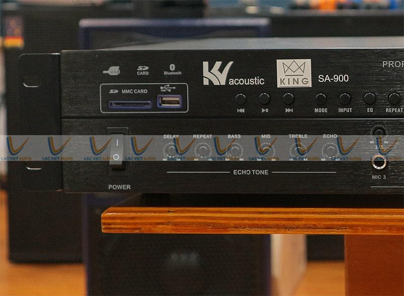 King SA 900 có bộ xử lý echo, reveb, delay cực kỳ ngon nghẻ