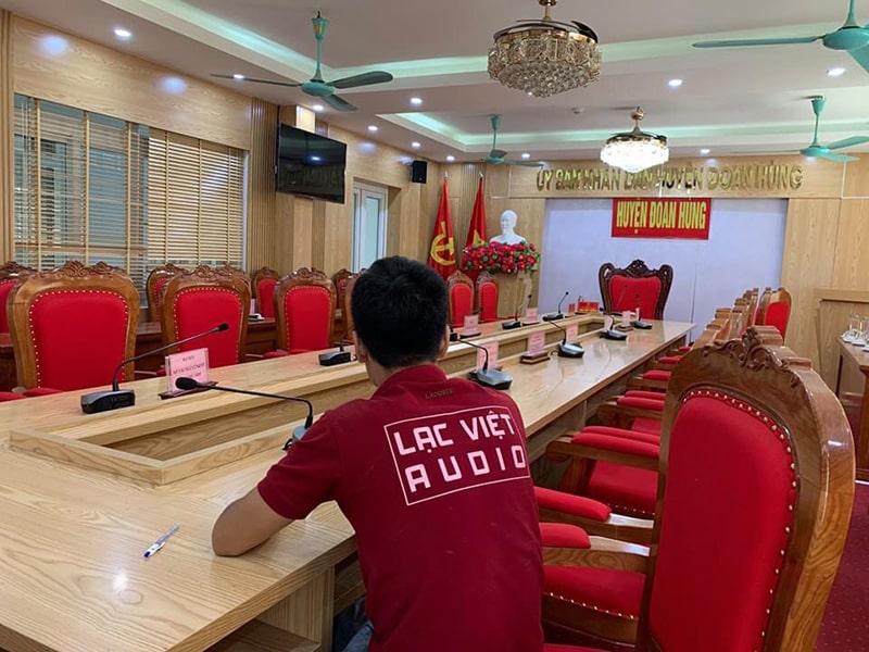 Lạc Việt Audio lắp đặt rất nhiều hệ thống âm thanh phòng họp chất lượng cao