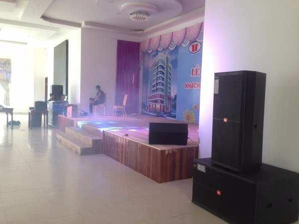 Cung cấp và lắp đặt hoàn thiện hệ thống âm thanh nhà hàng tiệc cưới Bình Minh