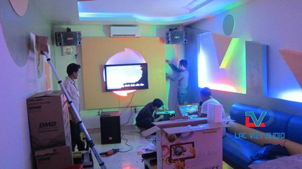 Lắp loa BMB 850 bãi cho phòng karaoke chuyên nghiệp