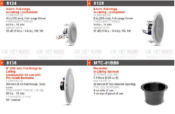 Loa âm trần JBL 8100 Series