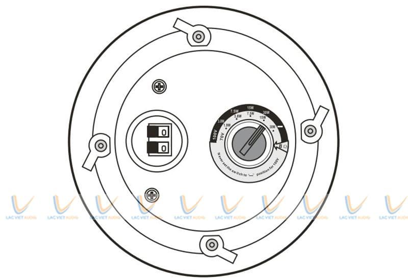 Loa âm trần Paso C51/20-HF có khả năng kết nối ổn định