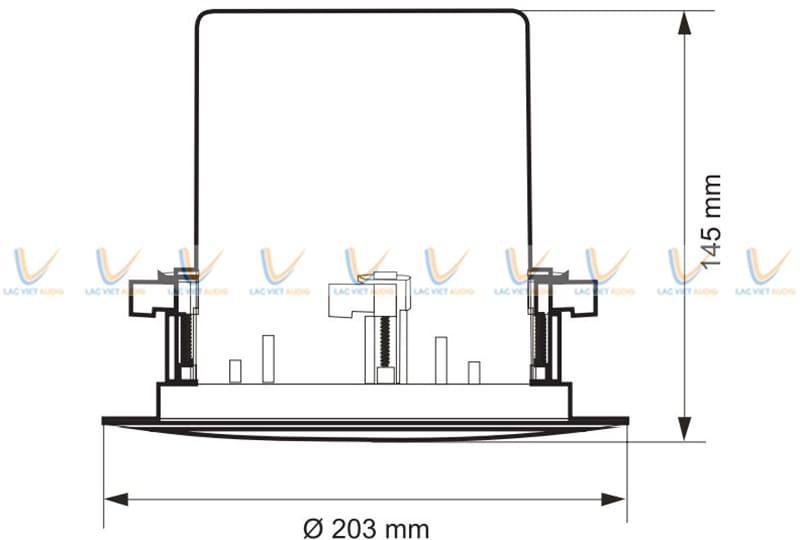 Loa âm trần Paso C51/20-HF có kích thước nhỏ nhắn