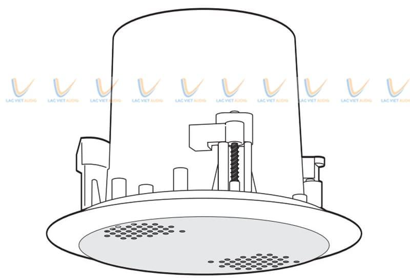 Loa âm trần Paso có móc cài lò xo cho người dùng dễ dàng lắp đặt