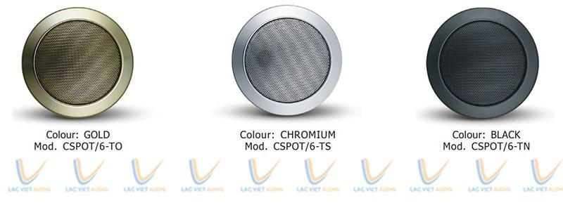 Loa âm trần Paso có nhiều màu khác nhau cho người dùng có thể lựa chọn