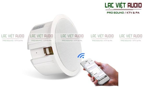 Loa âm trần sử dụng kết nối không dây wifi thông minh và tiện dụng