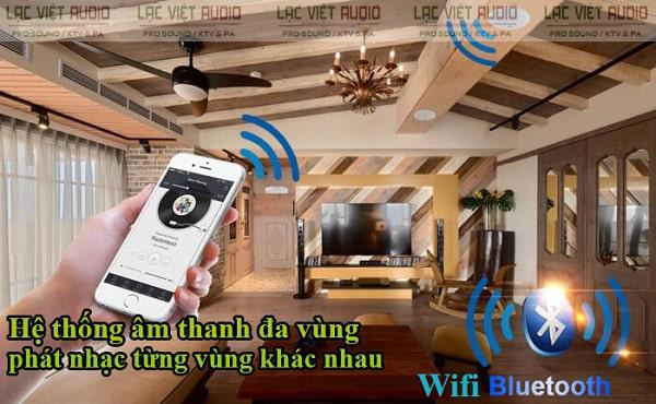 Kết nối loa âm trần wifi đơn giản và nhanh chóng từ điện thoại thông minh