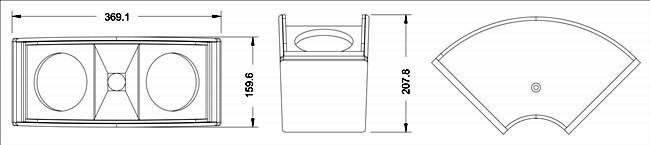 Cấu trúc thùng loa array CAF HY1822