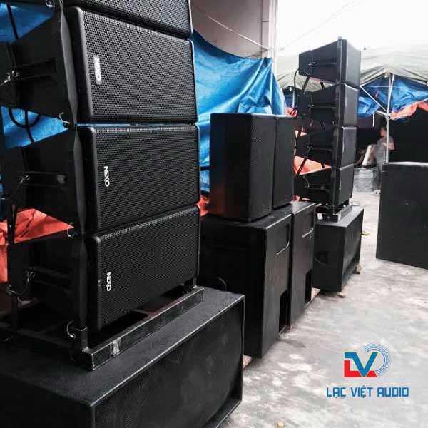 Loa Array Nexo công ty cung cấp cho khách hàng