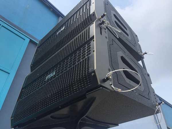 Loa array PSD sử dụng cho âm thanh sân khấu