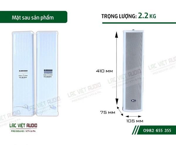 Loa cột ITC T702A có thiết kế nhỏ gọn và tiện lợi khi sử dụng