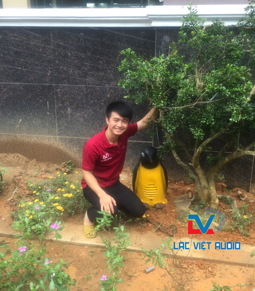 Lắp hệ thống loa sân vườn cho bệnh viện Hùng Vương