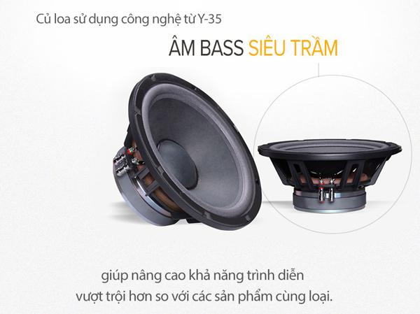 củ loa Karaoke PartyHouse QS12 sử dụng công nghệ cao