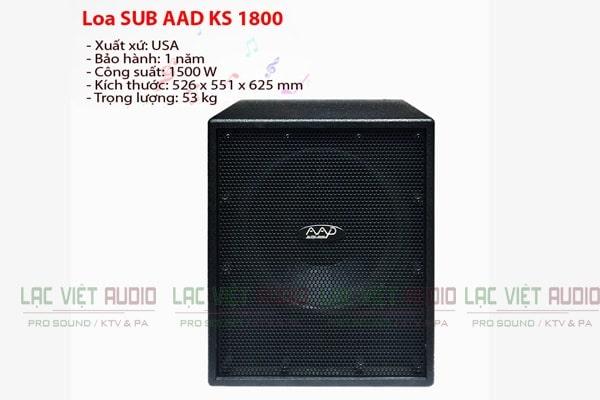 Loa sub hơi AAD KS 1800 có tính năng ưu việt cho chất lượng âm thanh cực chuẩn