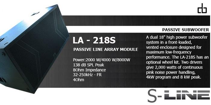 loa sub DB LA-218S