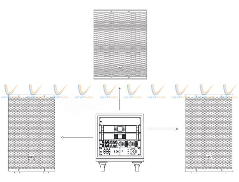 Loa sub MIX I-18 tương thích với nhiều thiết bị âm thanh khác nhau