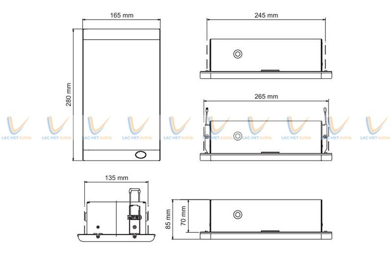 Loa treo tường Paso C44/12-EN kích thước nhỏ gọn