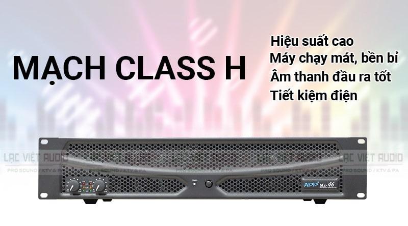 Mạch Class H cho chất lượng âm thanh tốt trên MZ 46