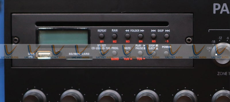 Màn hình LED của amply PASO PA-6120