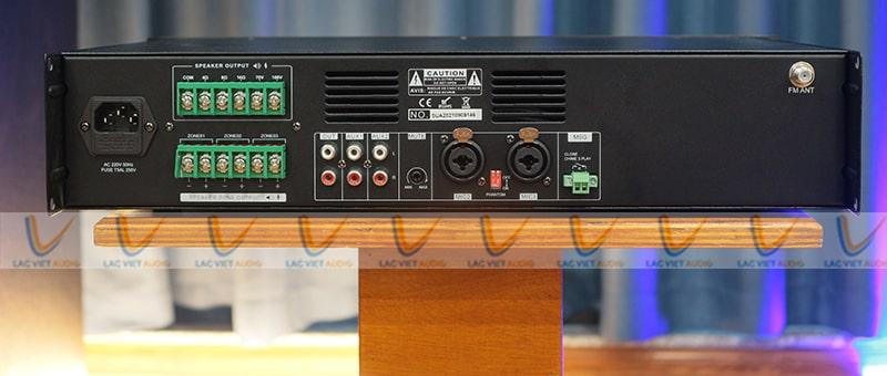 Mặt sau của Asima AX-240-R3 là hệ thống jack kết nối