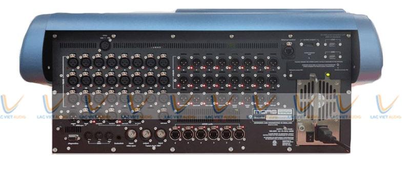 Mặt sau của Mixer Midas Pro 1-IP là hệ thống đầu vào