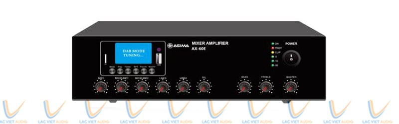 Mặt trước của Amply hội thảo ASIMA AX-60R