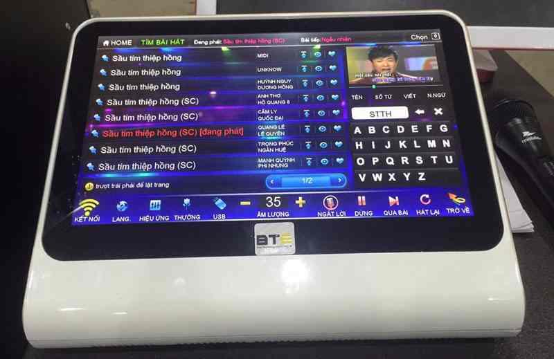 Mặt trước đầu karaoke BTE v650