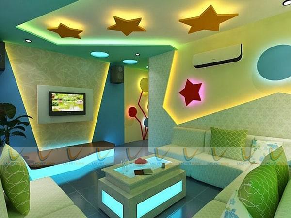 Mẫu phòng karaoke gia đình đẹp